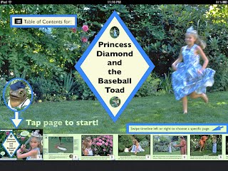 Princess Diamond and the Baseball Toad e-book iPad TOC
