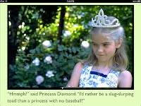 Princess Diamond and the Baseball Toad e-book for the iPad sample page