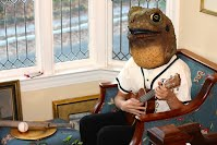 Baseball Toad Playing Ukelele